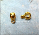 Plain Ring Bail, 3mm Opening, Bright Gold Finish