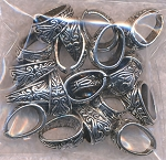 Fancy Pinch Bail, Antiqued Silver Bales for Jewelry Makers (1pc)