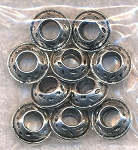 Rondelle Large Hole European-type Spacer Beads (10)