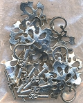 Fancy Leaf Toggle Clasps (10)