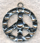 Large Peace Sign Pendant, 38mm