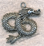 Base Metal and Pewter Dragon Charms