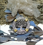 Wholesale Tree of Life Pendants Silver and Gold 2-Tone Bulk (10)