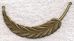 Large Feather Swoop Necklace Centerpiece, Antique Brass Finish
