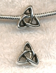 Triquetra Celtic Large Hole Beads, European Style Celtic Big Hole Beads (1)