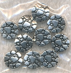 Heart Pebble Coin Beads, 9mm, Bulk 10pc