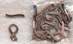 Awareness Ribbon Toggle Clasps Antique Copper Bulk (10)