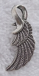 Bailed Double Sided Angel Wing Pendant 32x12mm