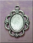 Oval Bezel Pendants for Mixed Media, Ruffled-Edge, Bulk (10)