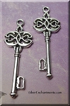 Tibetan Silver Celtic Key Necklace Pendant, Key Jewelry