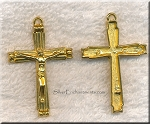 Crucifix Pendant, Gold Finish