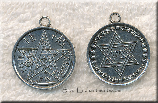 Tetragrammaton Pendants With Star Of David Antique Silver 6