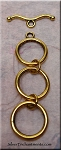 Triple Loop Toggle Clasp, Extender Toggle Clasp, Antique Gold