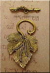 Leaf Toggle Clasp, Antique Gold Finish