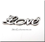 Tibetan Silver Love Jewelry Connector, Pewter Love Jewelry Finding
