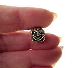 Tibetan Silver Clown Bead with 4mm Hole