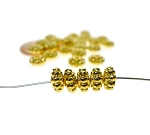 6mm Fat Daisy Spacers, Bright Gold Finish (30)