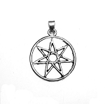 Seven Pointed Star Pendant, Elven Star Necklace, Septagram Jewelry