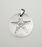 Double Pentagram Necklace, Stainless Steel Large 30mm Diameter Pentagram Jewelry