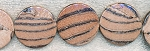 Brown Animal Print 32mm Coin Beads
