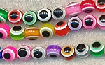 Evil Eye Beads, 10mm Round Acrylic Beads, Multicolor Eye Beads