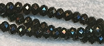 6mm Black Faceted Rondelle Beads