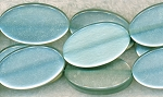 Iridescent Seafoam Green Lucite Beads, 28x16mm Oval