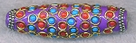 Tibetan Style Bead, Large Hole Focal Bead, 60x18mm, Purple - CLEARANCE