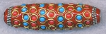 Tibetan Bead, Large Hole Focal Bead, 60x18mm, Red - CLEARANCE