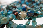 Blue African Opal Jasper Beads, 8x6mm Oval Jasper Beads, Gemstone Beads - CLEARANCE