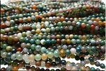 Agate Beads, 4mm Round Natural Fancy Agate Beads Strand
