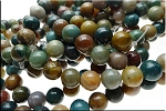 10mm Round Fancy Agate Beads Strand