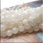 8mm Round Translucent Agate Beads Strand