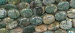 Green Crazy Lace Agate Beads, 20x16mm Oval Beads Strand