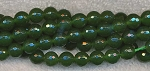 Green Jade Agate Beads, 8mm Faceted Round Strand