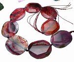 Dragon Vein Agate Bead Pendants, Large Freeform Magenta to Purple Crackled
