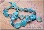 Blue Crazy Lace Agate Beads, 15mm Coin Beads
