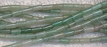 Green Aventurine Beads, avg 7x3mm Tube Beads