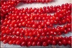 Coral Beads, 3x10mm Dog Bone Coral Beads - CLEARANCE