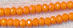 6mm Rondelle Crystal Beads, ORANGE
