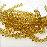 8mm Crystal Bicone Beads Strand, GOLDEN WHEAT ALE
