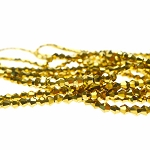 3mm METALLIC GOLD Bicone Crystal Beads Strand