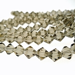 8mm Bicone Light SMOKY QUARTZ Crystal Beads