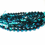6mm METALLIC BLUE Bicone Crystal Beads Strand