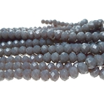 6mm Rondelle Crystal Beads, GRAY Crystal Beads