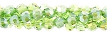 4mm Round Crystal Beads, PERIDOT AB Green