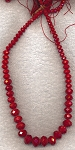 Graduated Crystal Beads, Red 6mm to 16mm Graduated Rondelle