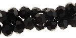 6mm Round Crystal Beads, BLACK