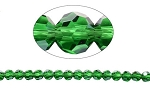 6mm Round Crystal Beads, EMERALD - CLEARANCE