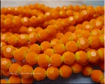 6mm Round Crystal Beads, ORANGE YELLOW OMBRE